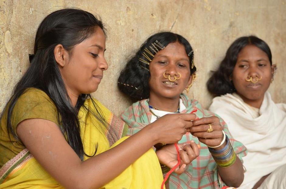 Pankaja with Dongria Kondh Artisans