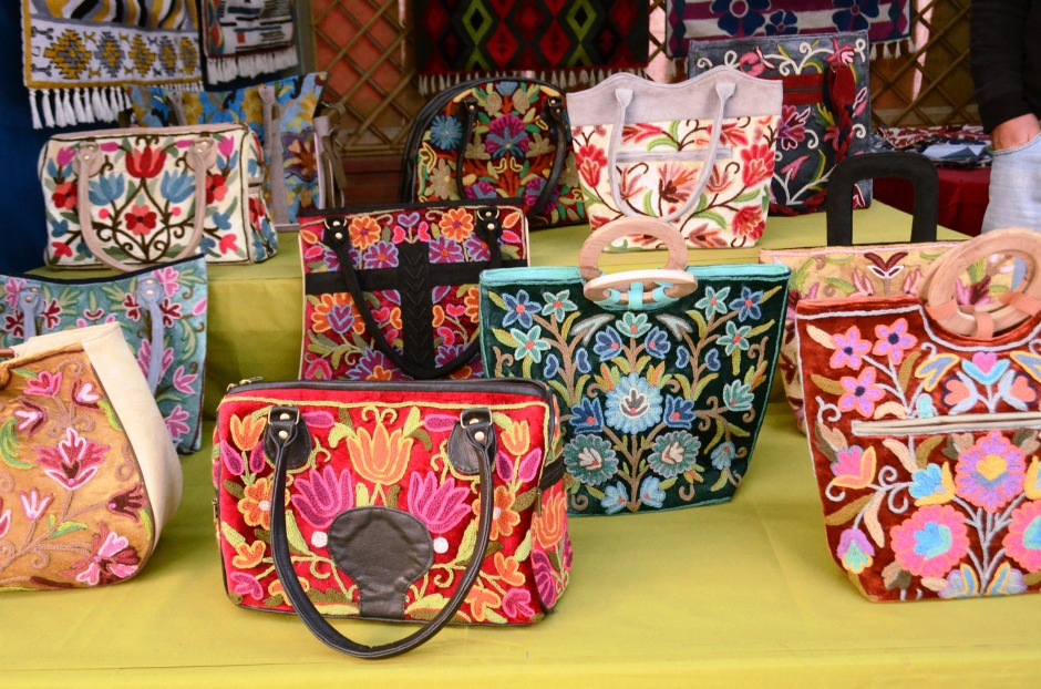 Crewel Embroidery Bags by Jahangir