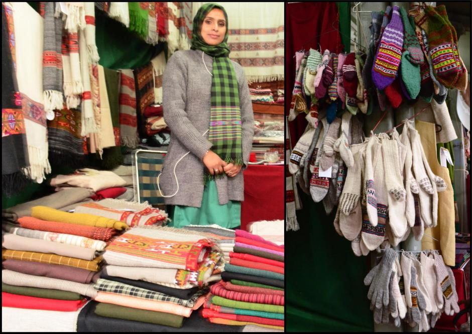 Hand knitted Shawls, Caps and Socks from Gujarat