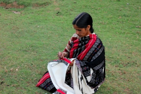 Toda Woman Embroidering