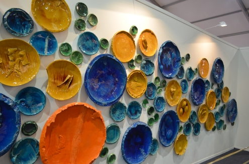 Rahul Kumar, Circle Uncircled, Ceramic Installation