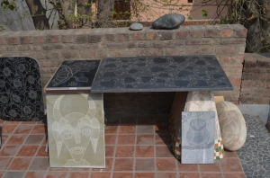 Tile Carving by Dharmender Yogi