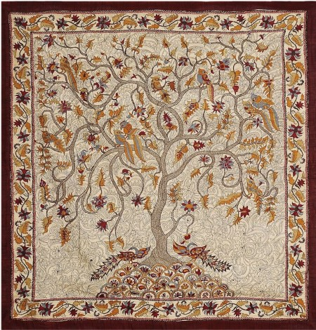 Kantha-Embroidered Wall Hanging