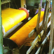 Weaving Khesh on a Traditional Loom