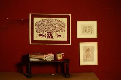 Framed Sanjhi Wall Art