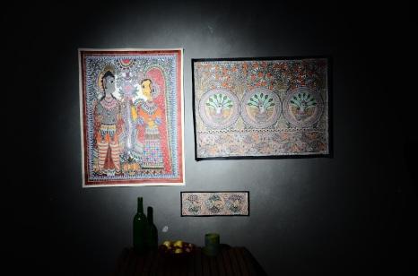 Madhubani Paintings with Traditional Motifs