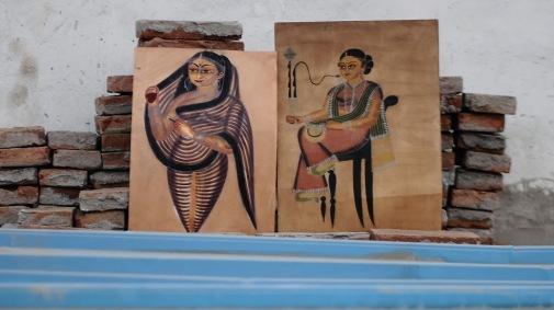 Vintage Kalighat Paintings