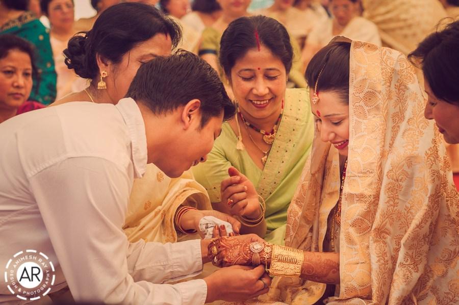 Assamese bride Animesh Ray